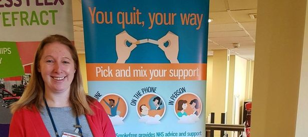 Yorkshire Smokefree Wakefield visit Haribo for the Annual Health Fair